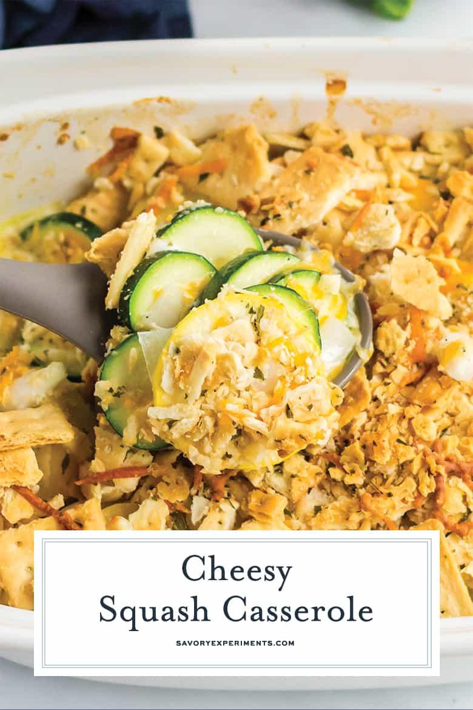 Cheesy squash casserole for Pinterest