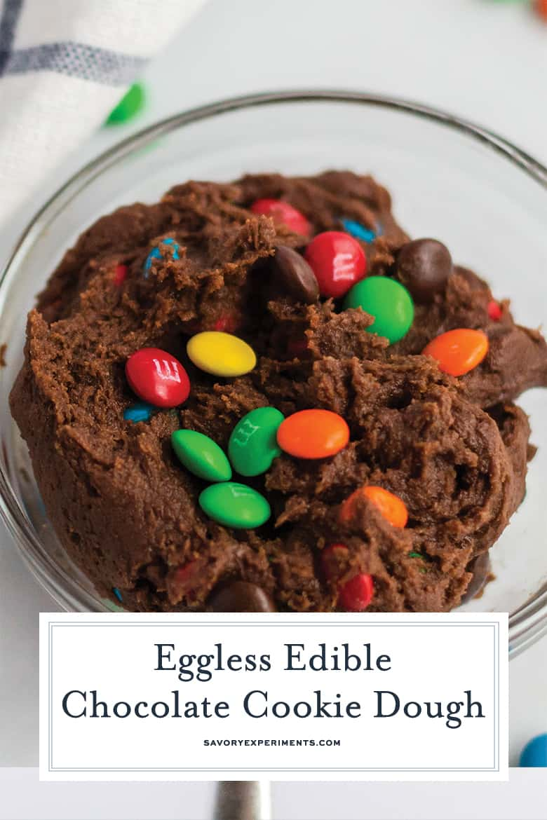 Close up of edible chocolate chip cookie dough