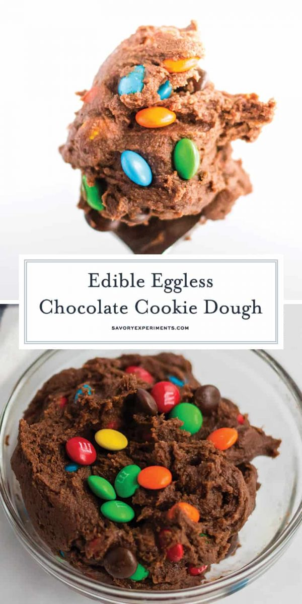 Chocolate cookie dough for Pinterest