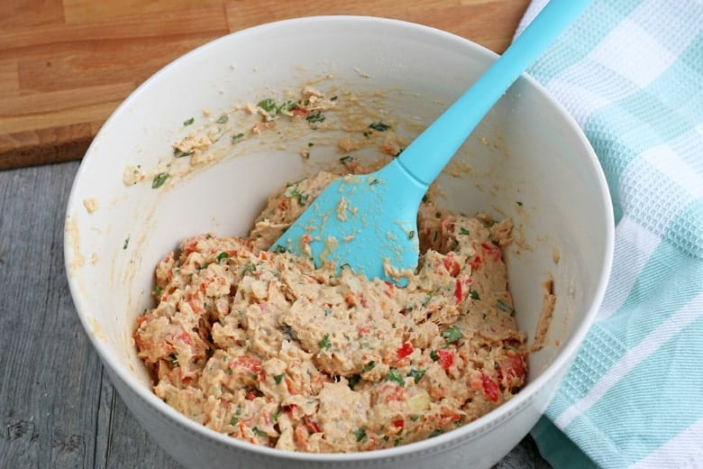 Salmon patties batter