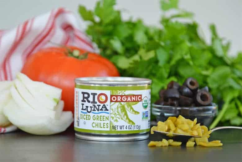 Can of diced green chiles