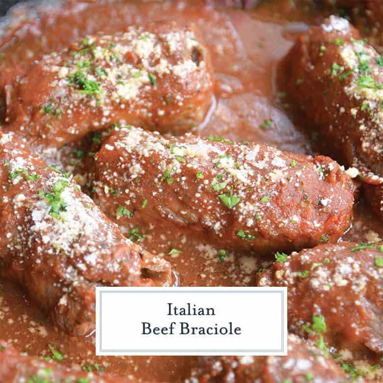 Close up of Italian Beef Braciole