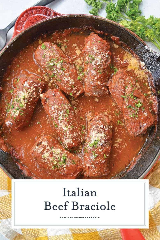 Italian Beef Braciole for Pinterest