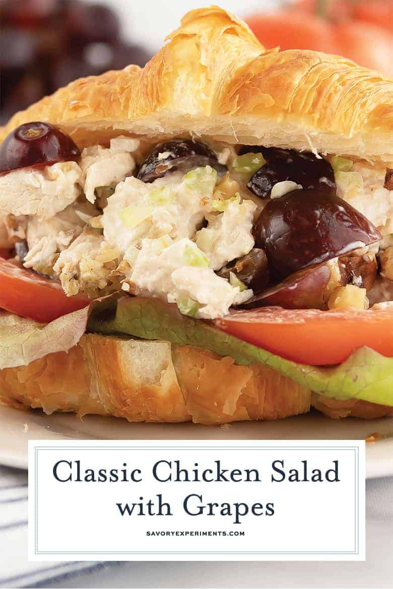 Close up of chicken salad