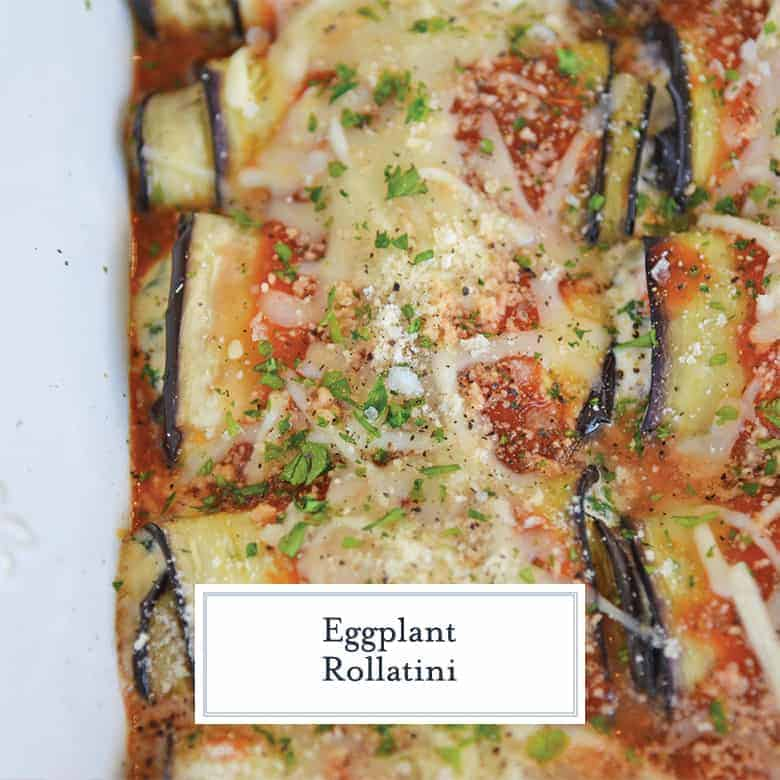 Close up of baked eggplant