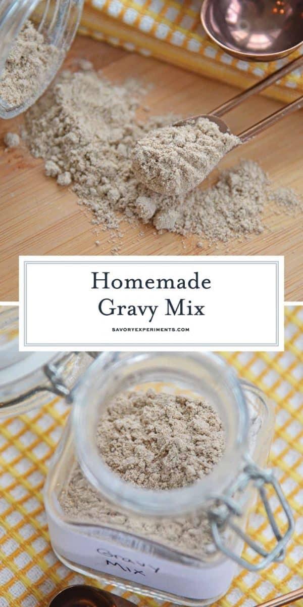 Homemade gravy mix for Pinterest