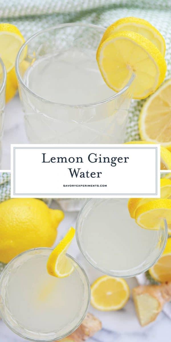 Lemon Ginger water for Pinterest