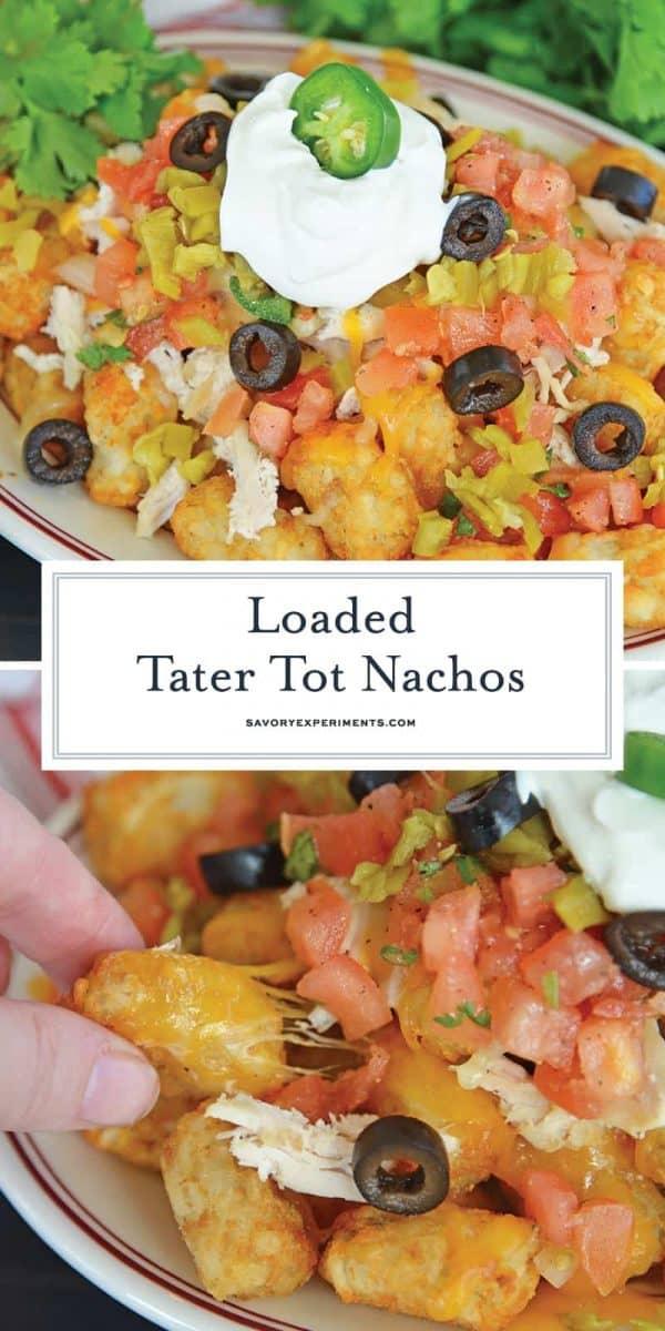 Loaded Tater Tot Nachos for Pinterest
