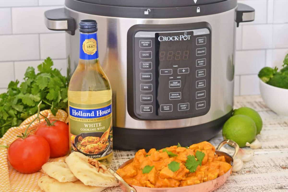White Wine with Crock Pot Express Cooker and Butter Chicken