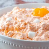 bowl of orange fluff