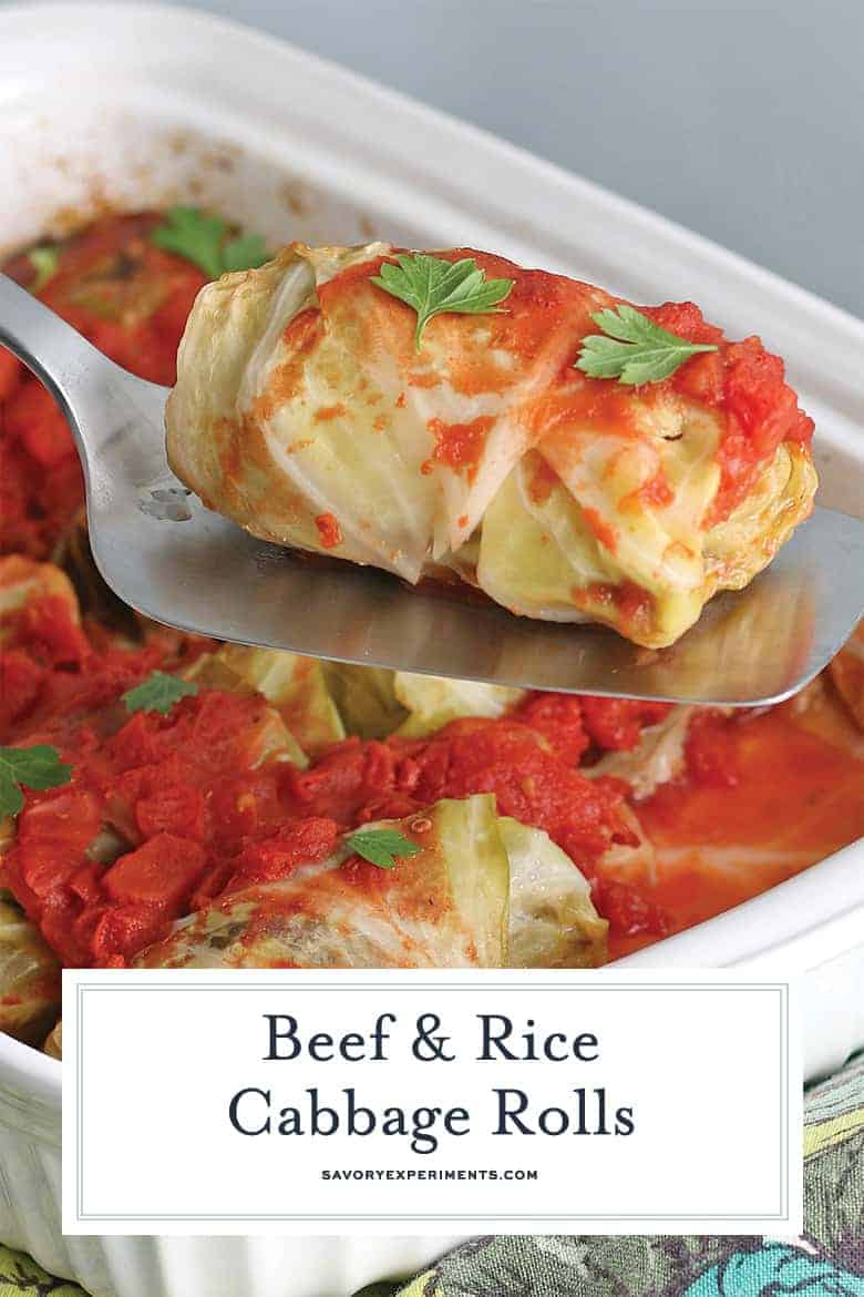 Stuffed Cabbage Rolls for PInterest