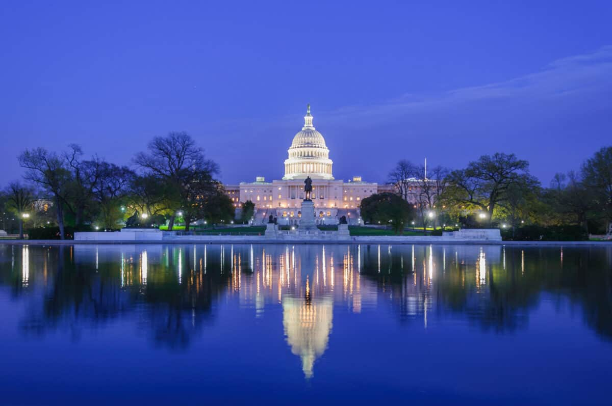 capital building at night