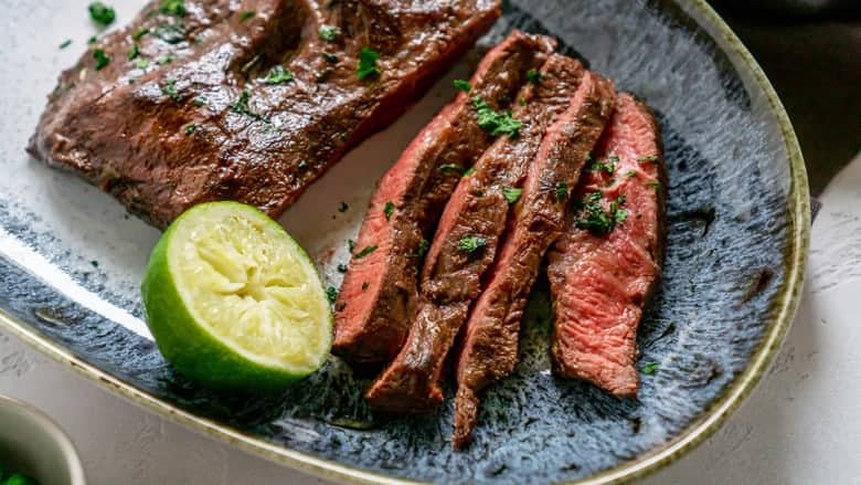 grilled flank steak with lime