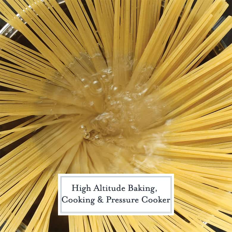 Pasta boiling at high altitude
