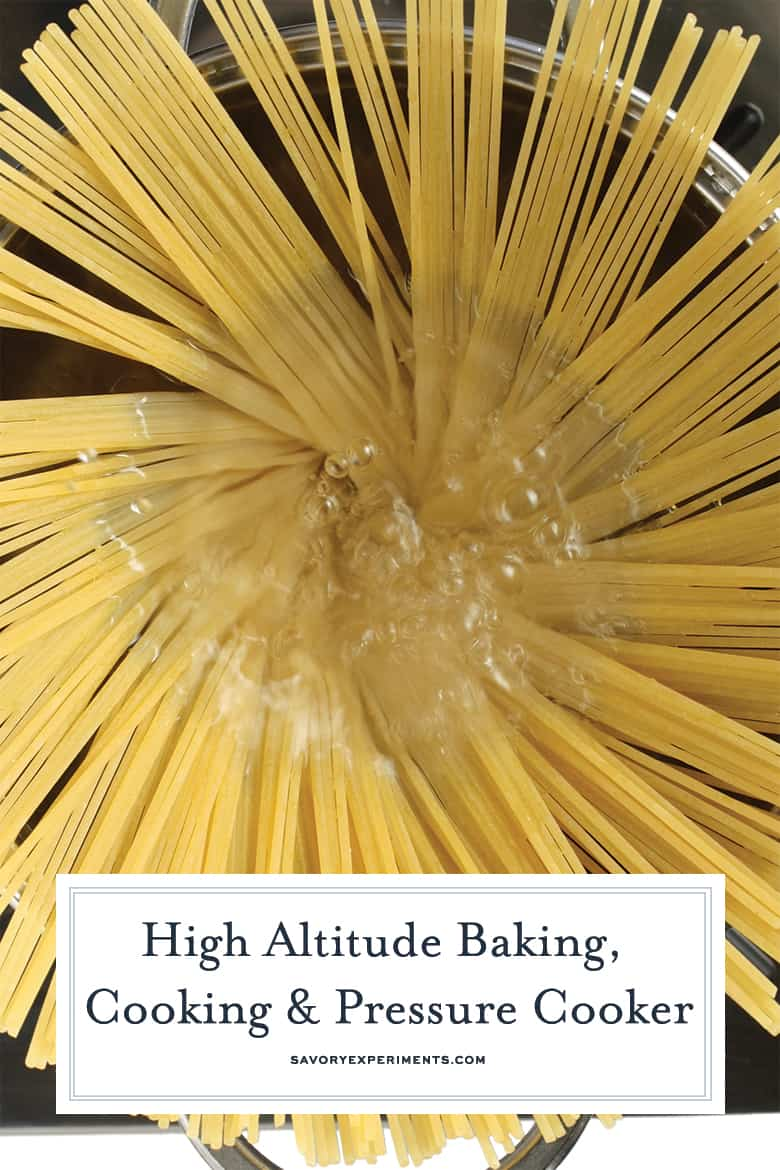 High Altitude Cooking Guide for Pinterest