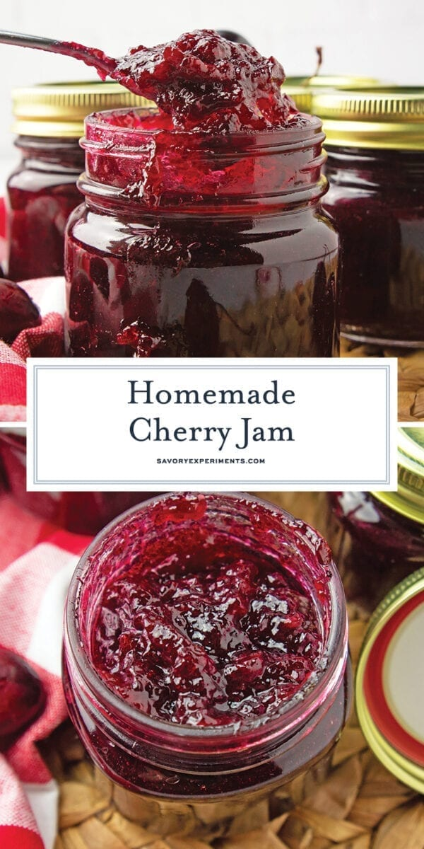cherry jam for Pinterest