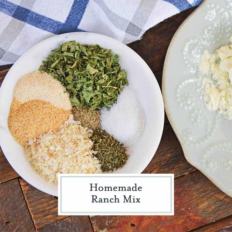 Bowl of dry ranch mix