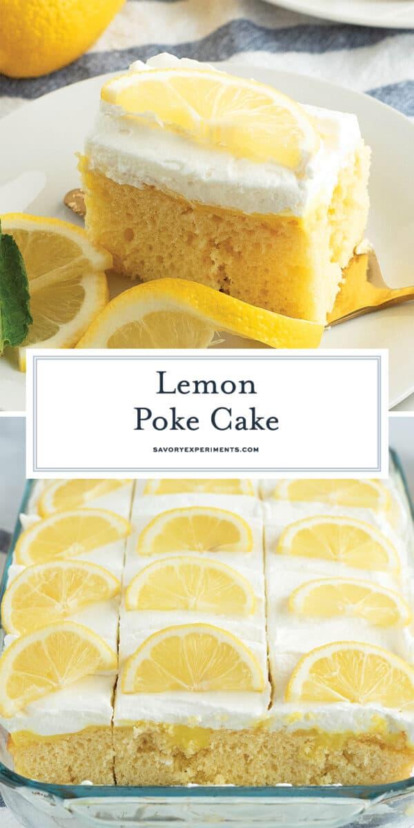 Lemon poke cake for pinterest