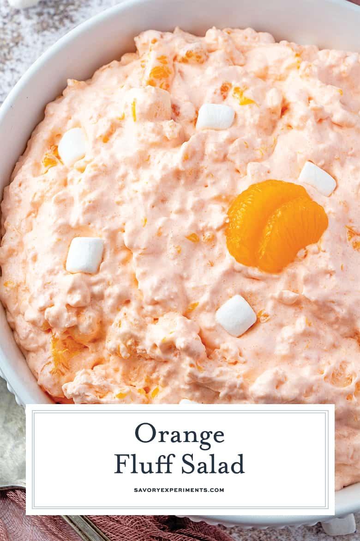 Close up of Orange Fluff Salad Pin