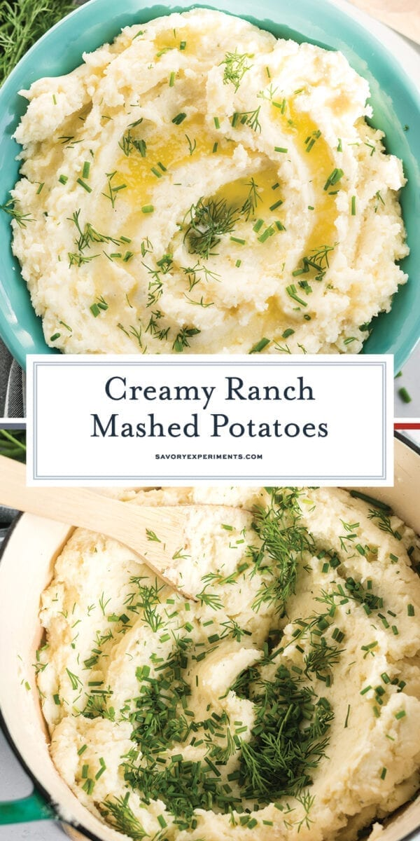 mashed potatoes with butter and herbs