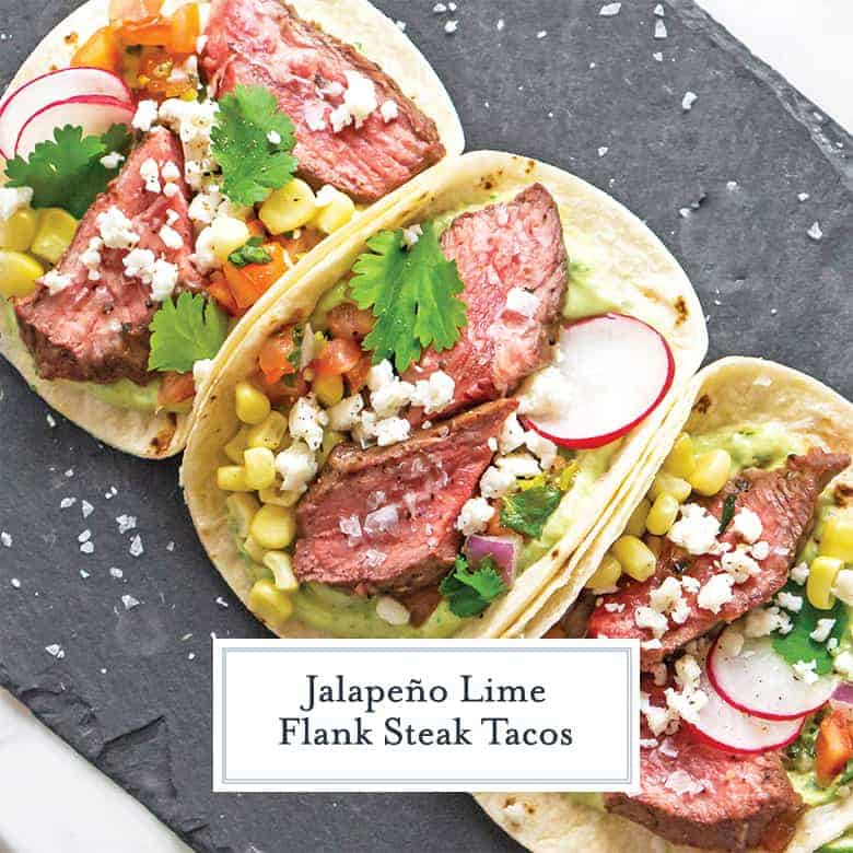 Beef Tacos on a slate serving platter