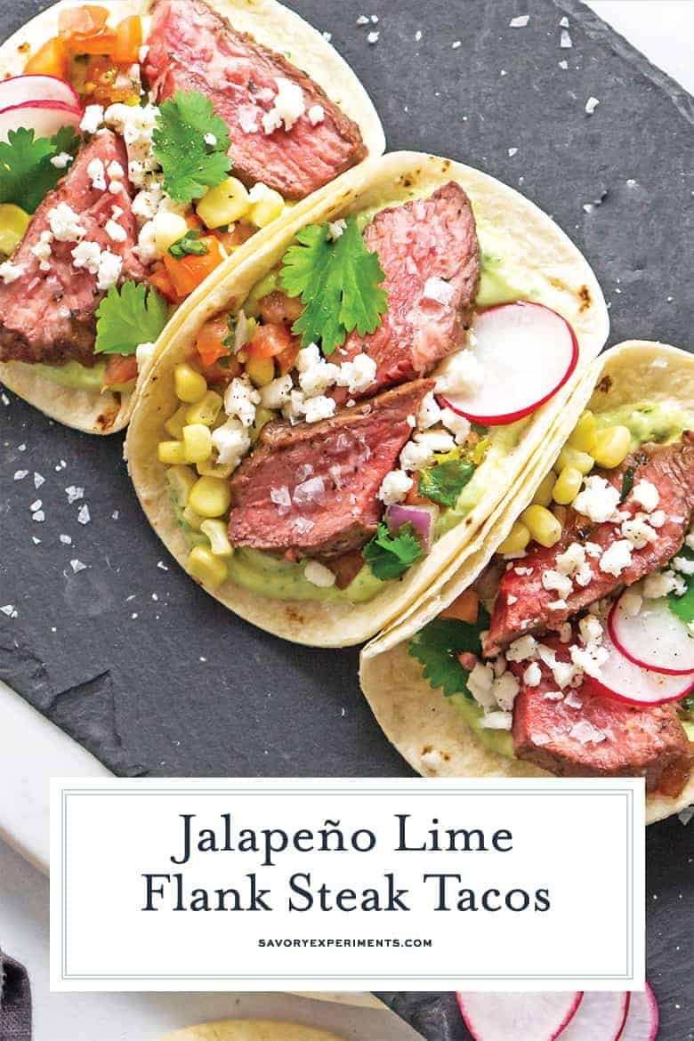 Flank Steak Tacos for Pinterest