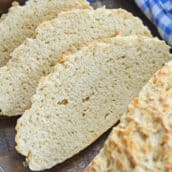 slices of no yeast 2 ingredient bread