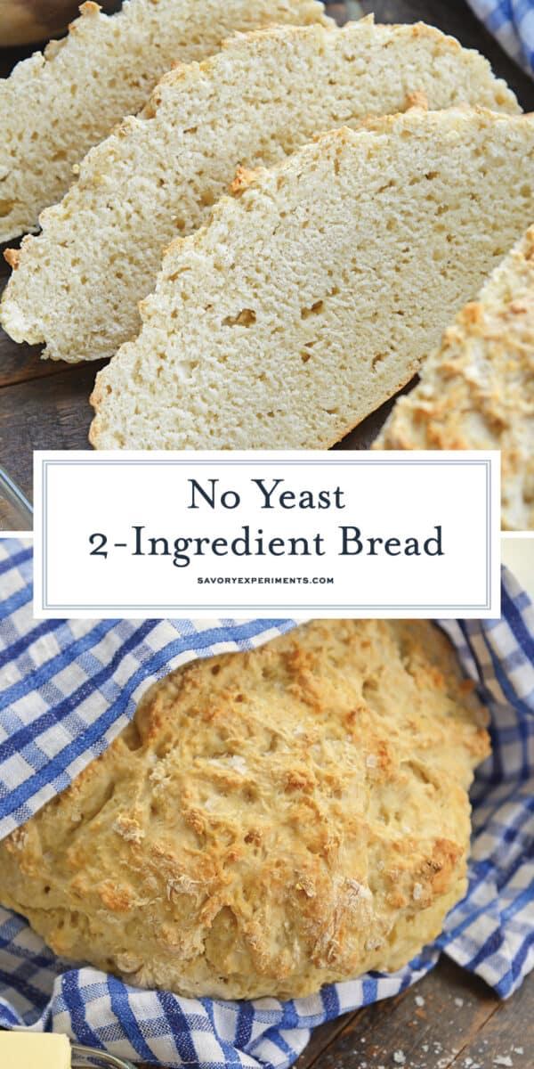 2 Ingredient bread for Pinterest