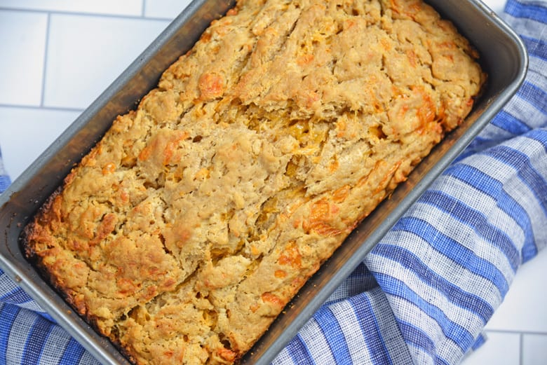 Easy Beer Bread in a loaf pan