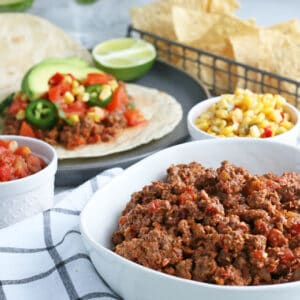 taco meat with tacos
