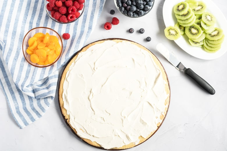 frosted cookie crust for fruit pizza
