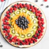 overhead og fruit pizza