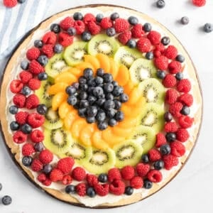overhead og fruit pizza