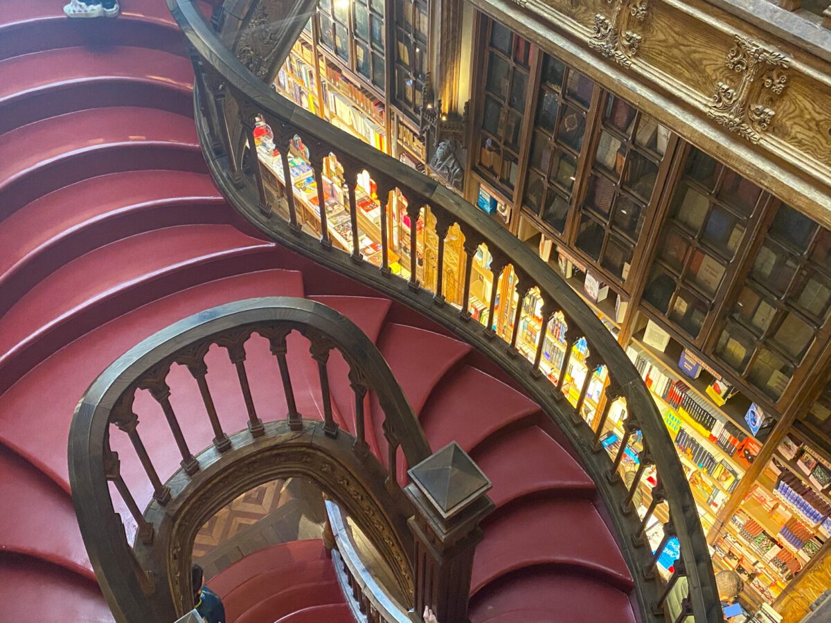 Stairs at the Harry Potter Book Store
