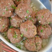 bowl of ranch cocktail meatballs