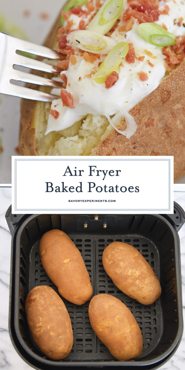 Loaded Air Fryer Baked Potato for Pinterest