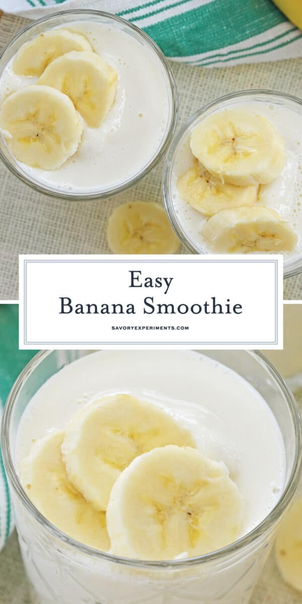 easy banana smoothie recipe for pinterest