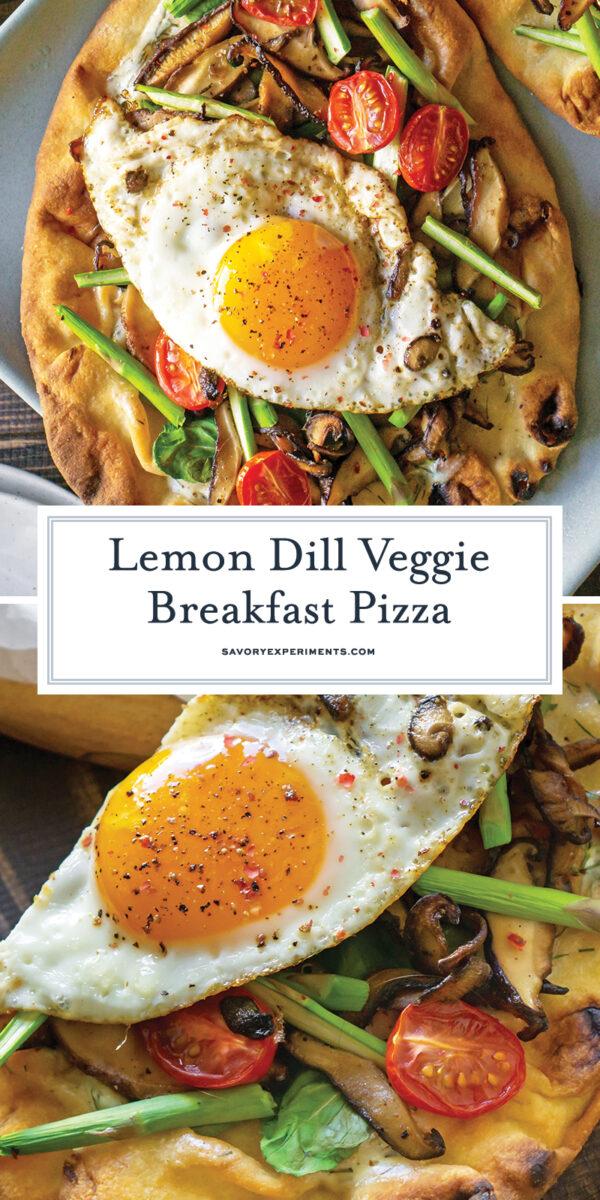 runny egg breakfast pizza for pinterest