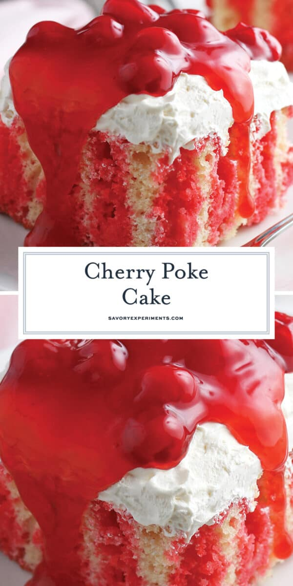 Cherry Poke Cake for Pinterest