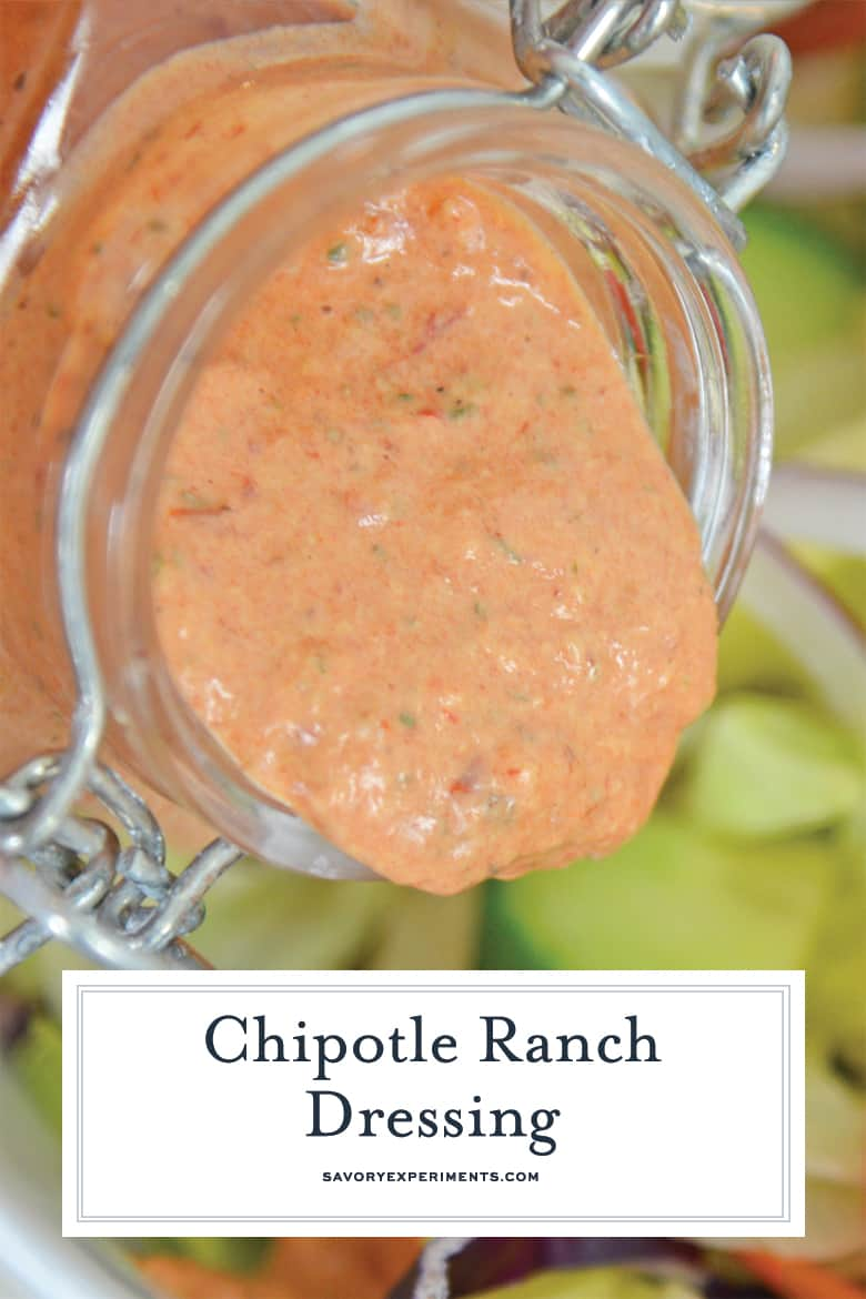 Close up of chipotle ranch dressing