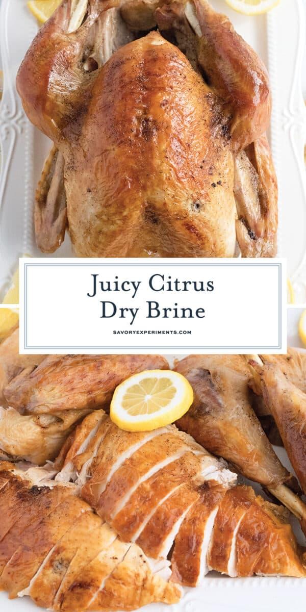 juicy citrus dry brine for turkey