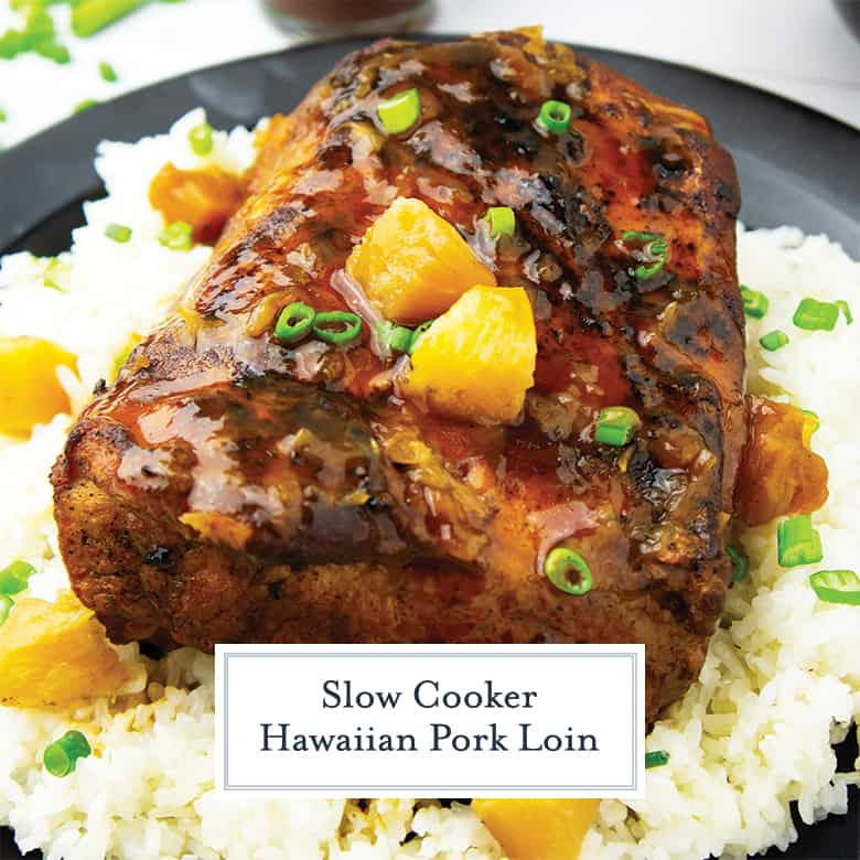 Hawaiian Pork Loin on a serving platter