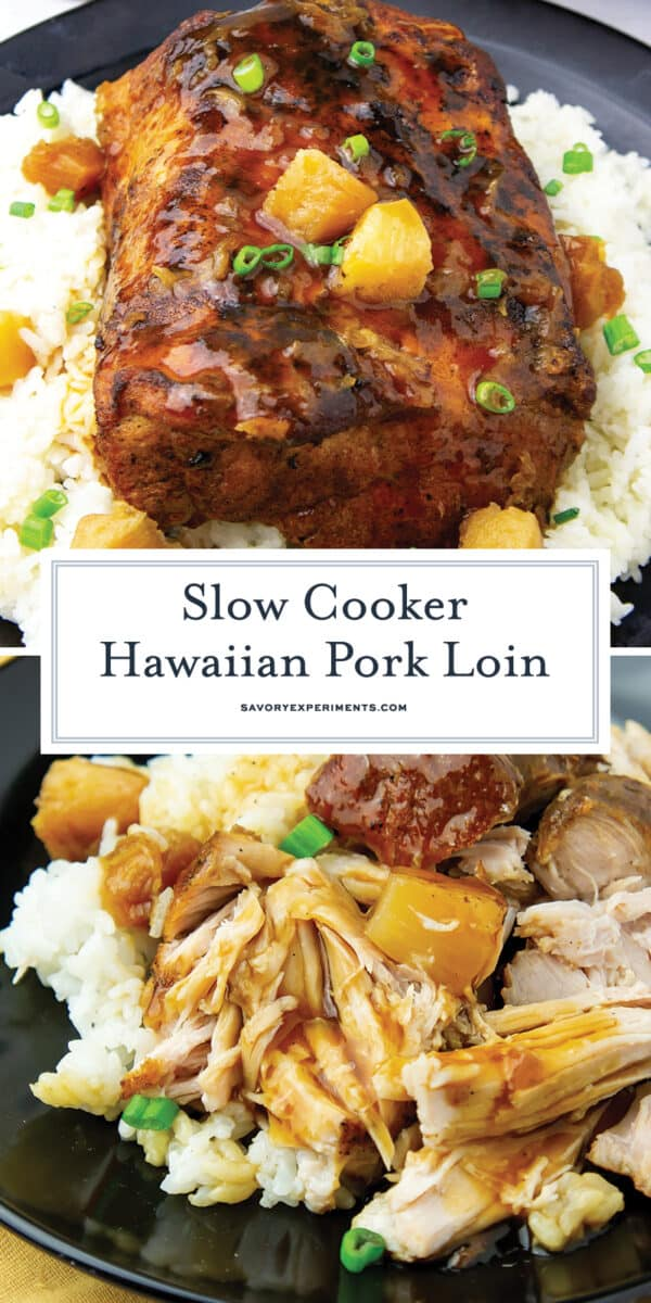 hawaiian pork loin in the slow cooker for Pinterest