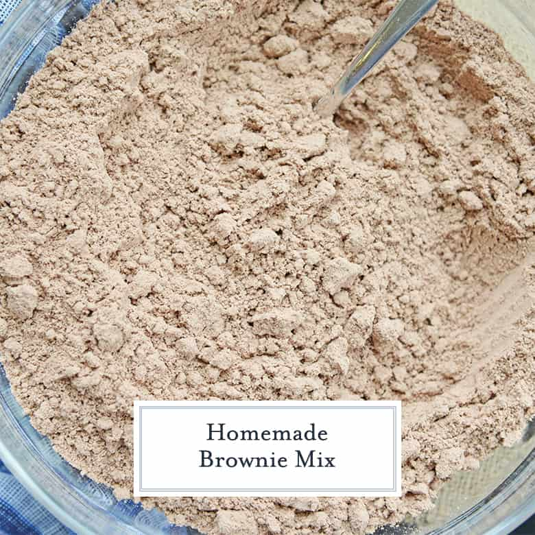 bowl of dry brownie mix