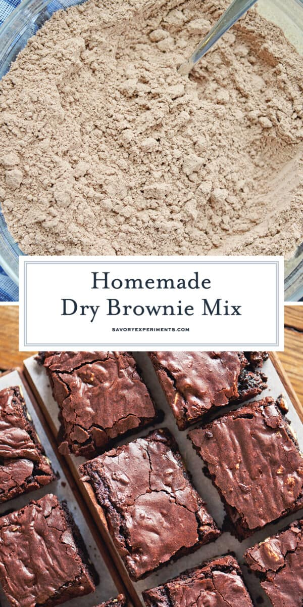 homemade dry brownie mix for pinterest