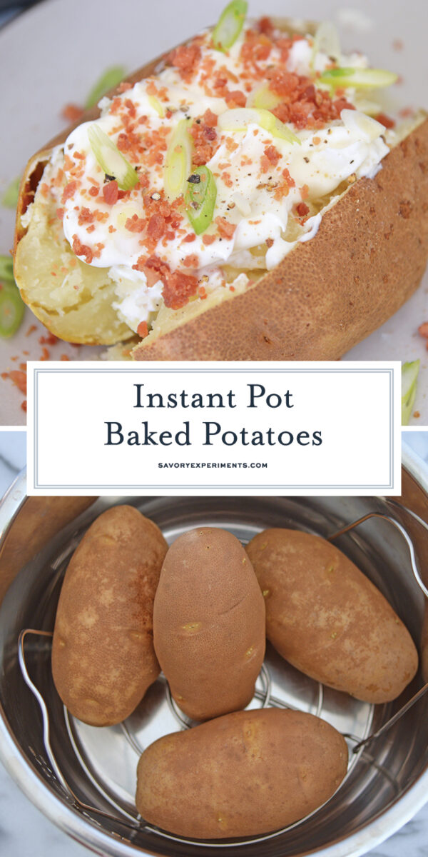 Instant Pot Baked Potatoes for Pinterest