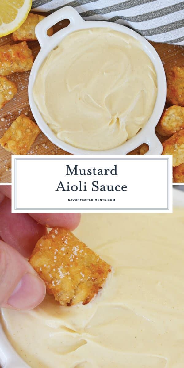 creamy mustard aioli for pinterest