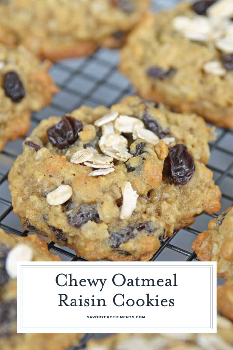 chewy oatmeal raisin cookies for pinterest