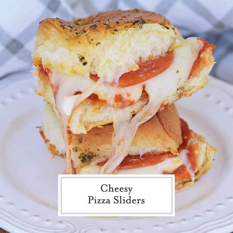 stack of pizza sandwiches with cheese