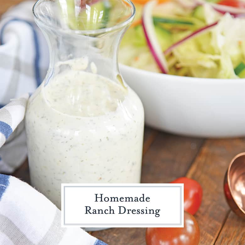 Glass jar of Ranch dressing
